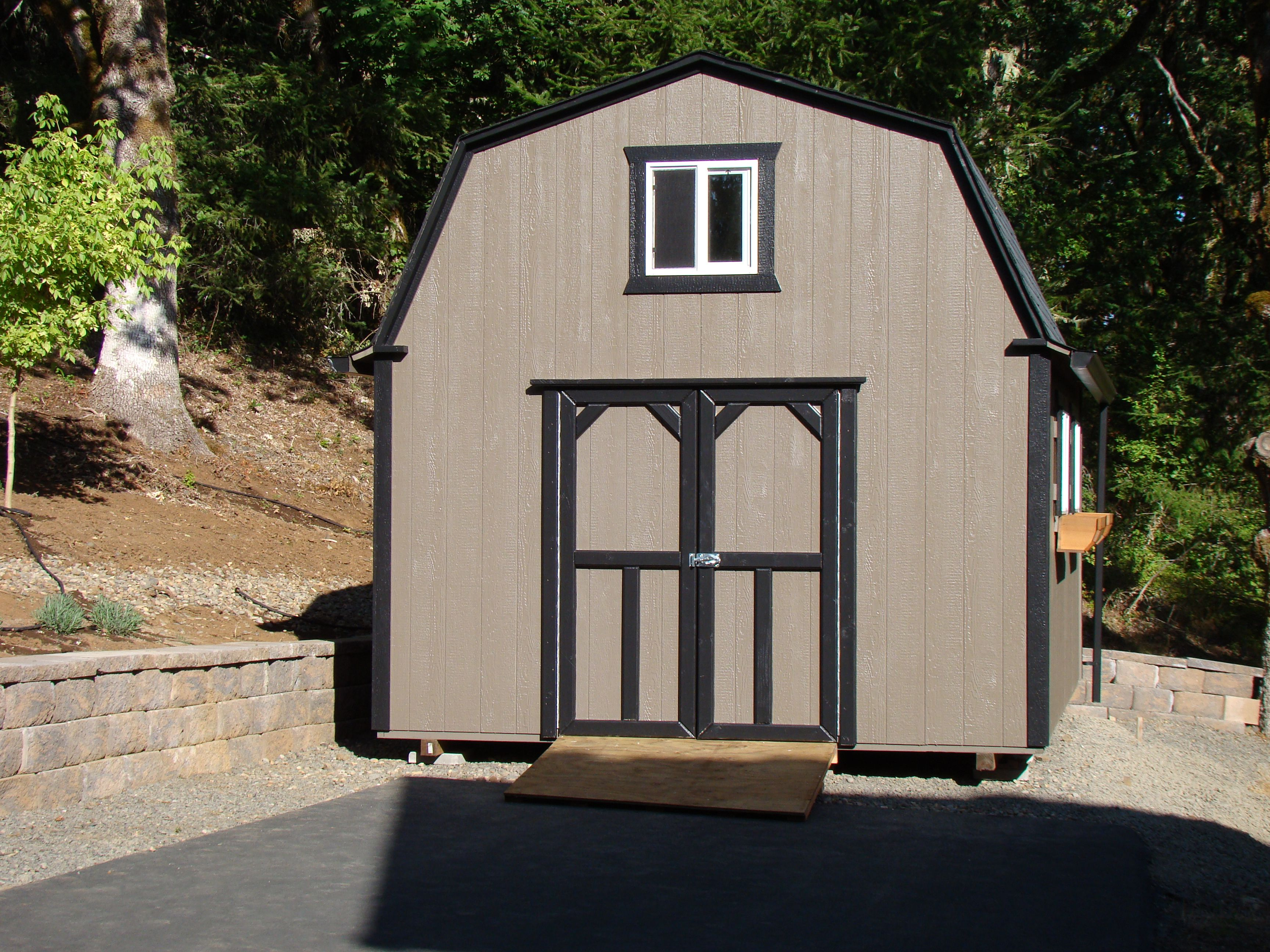 Barn Style With Flower Box Gutter Ramp And Double Door