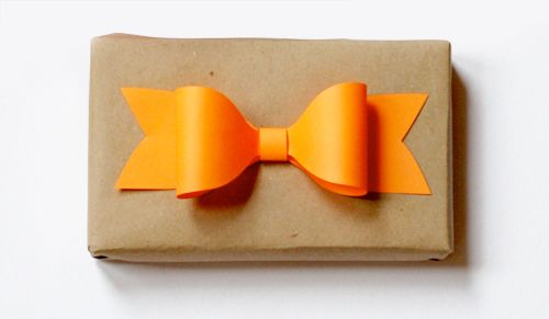 How About Orange: How to make a paper bow