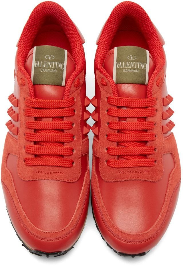 3be434a71a0 Valentino - Red Leather Rockstud Sneakers Βρεφικά Παπούτσια, Casual Σύνολα