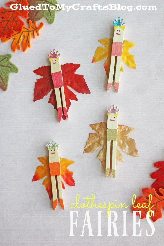 Clothespin leaf fairies kid craft fairy leaves and craft for Fairy crafts for toddlers