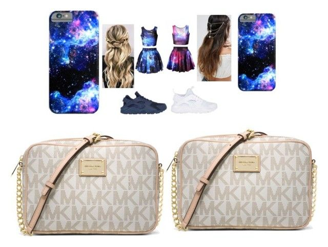 """twins"" by pettyallthe on Polyvore featuring beauty, NIKE, ASOS and MICHAEL Michael Kors"