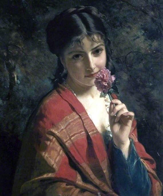 "A ROSE"", by Henry Guillaume Schlesinger, c. 1879"