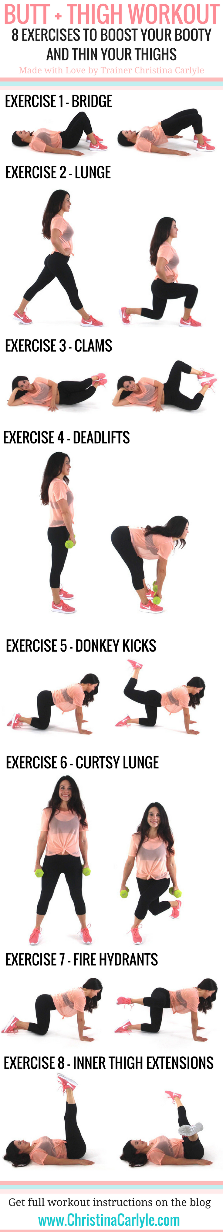 Butt and Thigh Workout  Thighs Workout and Exercises