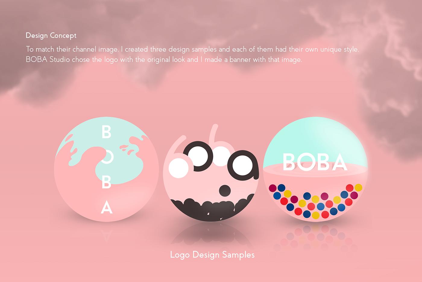Design Banner Boba - desain spanduk kreatif