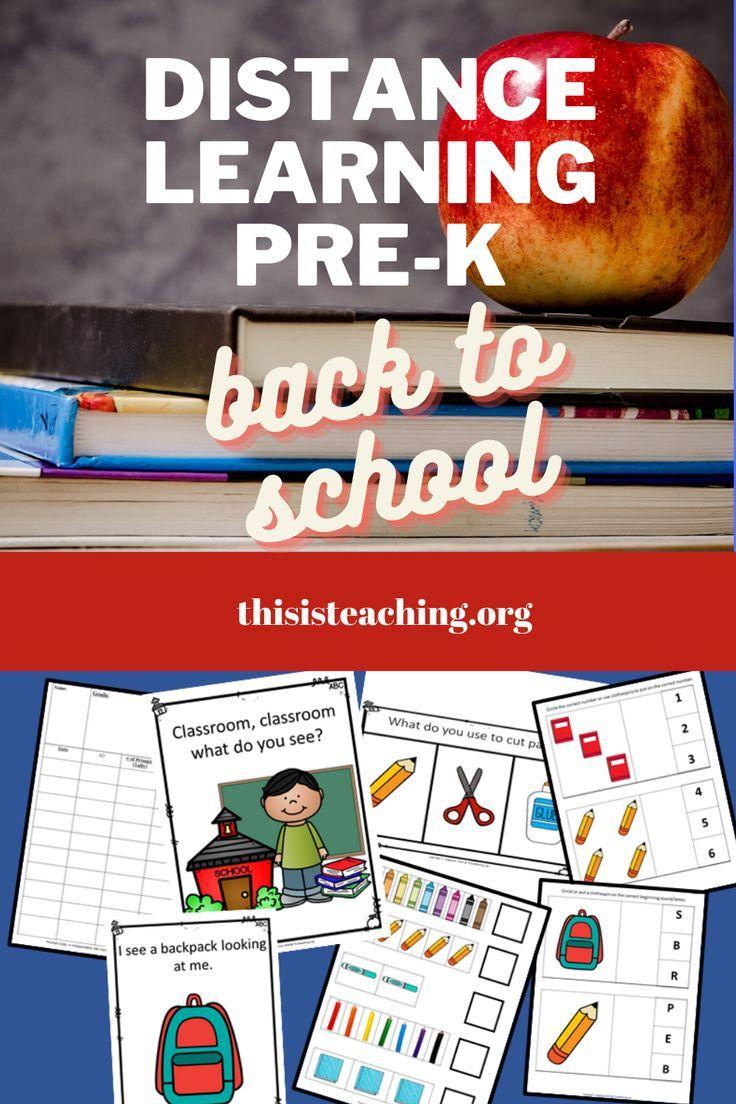 DISTANCE LEARNING BACK TO SCHOOL ACTIVITIES PRESCHOOL