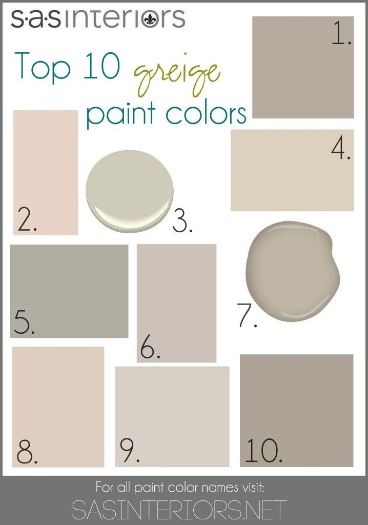 Colors Include 1 Sherwin Williams Mega Greige 2 Valspar Woodrow Wilson Putty 3