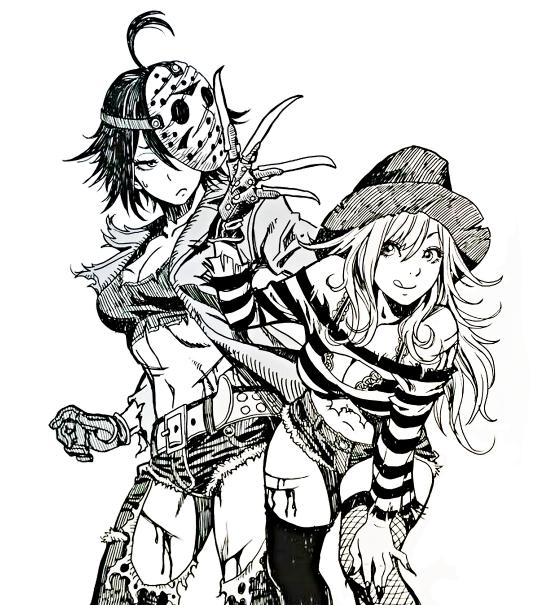 Oi Lina Freddy Vs Jason By Shunya Yamashita 山下しゅんや Klassische Horrorfilme Anime Horrorfilme