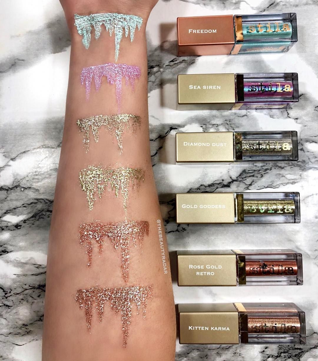 Glitter Icicles Stilacosmetics Which Shade Is Your Fav These Are My Absolute Fav Glitter Stila Glitter Eyeshadow Glitter Eyeshadow Stila Liquid Eyeshadow