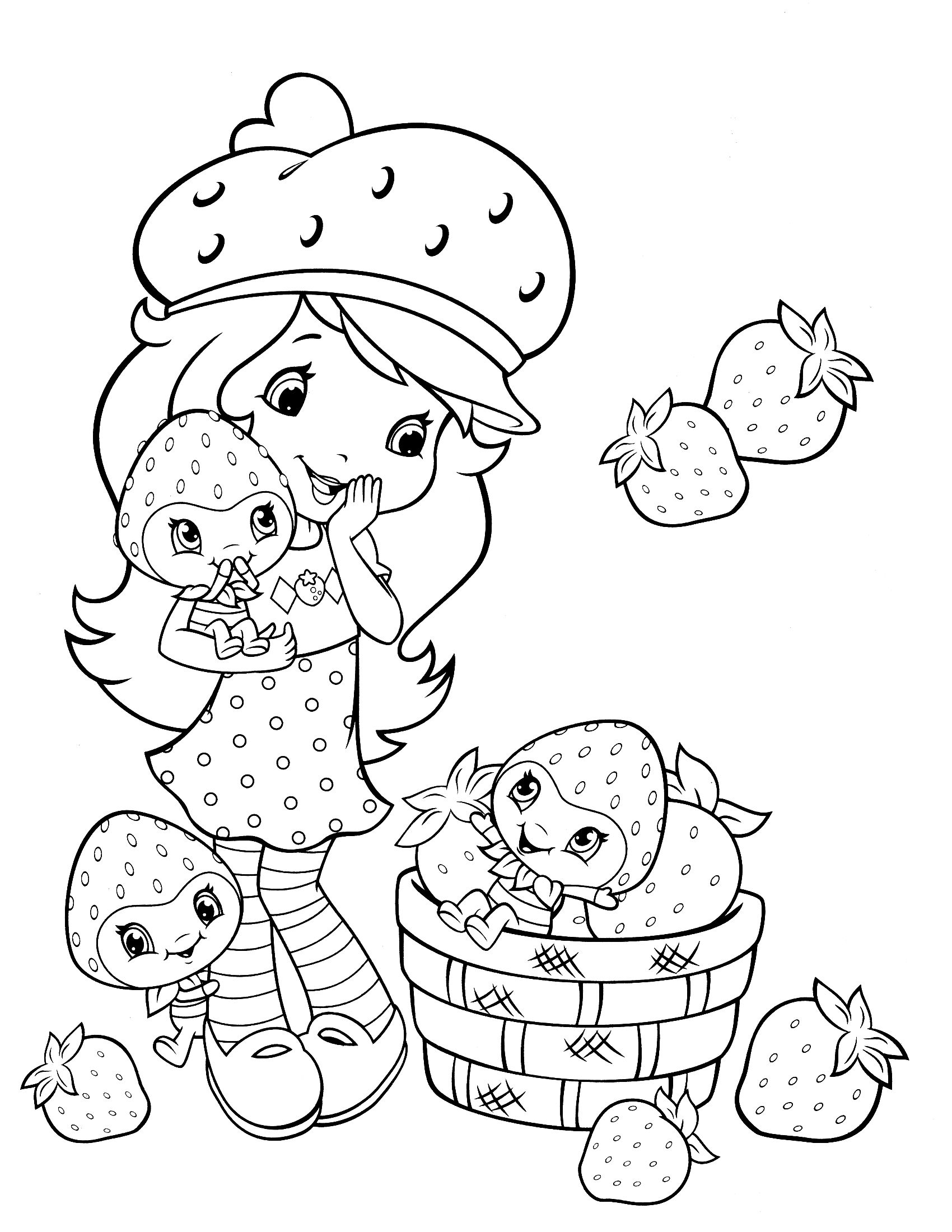 strawberry shortcake coloring page | fresitas | Pinterest | Adult ...
