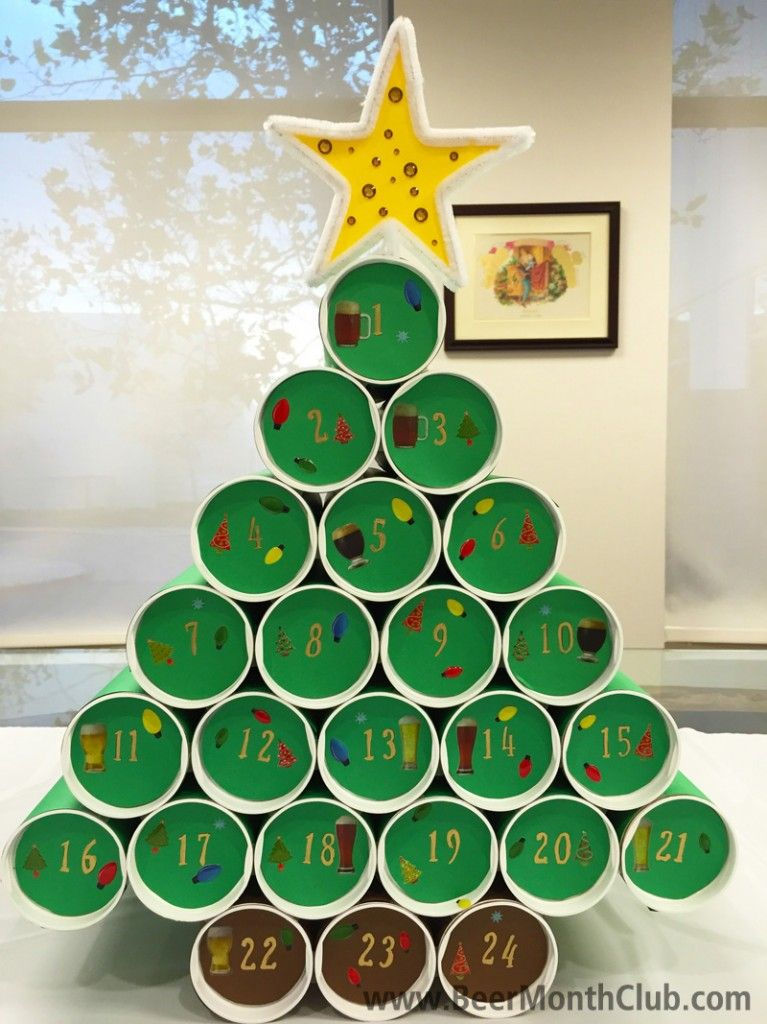 How To Make A Diy Craft Beer Advent Calendar Craft Beer Blog From The Beer Of The Month Club Homemade Advent Calendars Calendar Craft Beer Advent Calendar