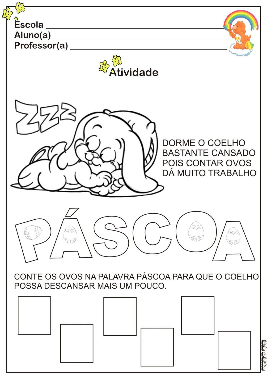 Alfabetização Pascoa Pinterest Teacher Teaching E Classroom