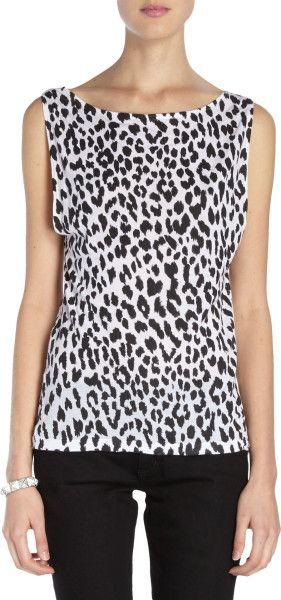 3a45abfa Love this: Leopardprint Jersey Sleeveless Tshirt @Lyst | Ceramics ...