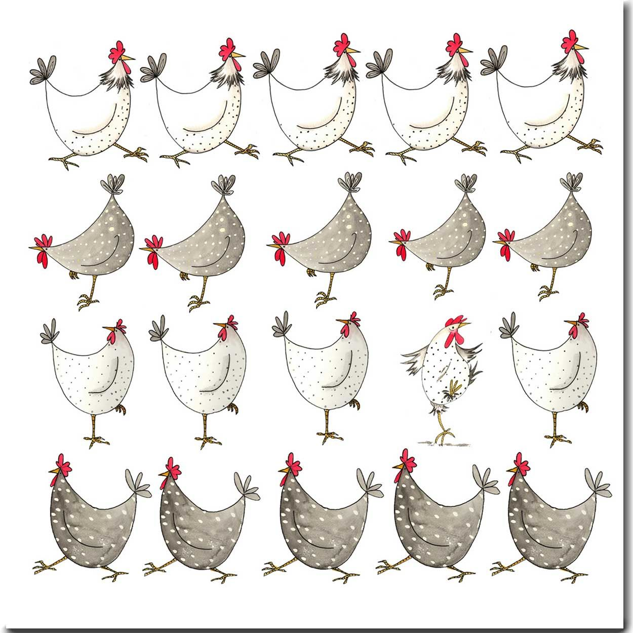 Shop for multi chickens greeting card from the skinny card company shop for multi chickens greeting card from the skinny card company 225 kristyandbryce Gallery