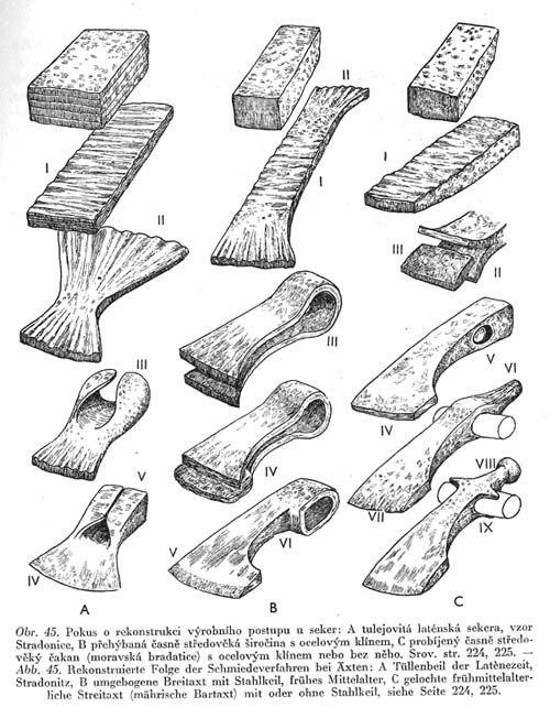 viking adze. axe head making viking adze