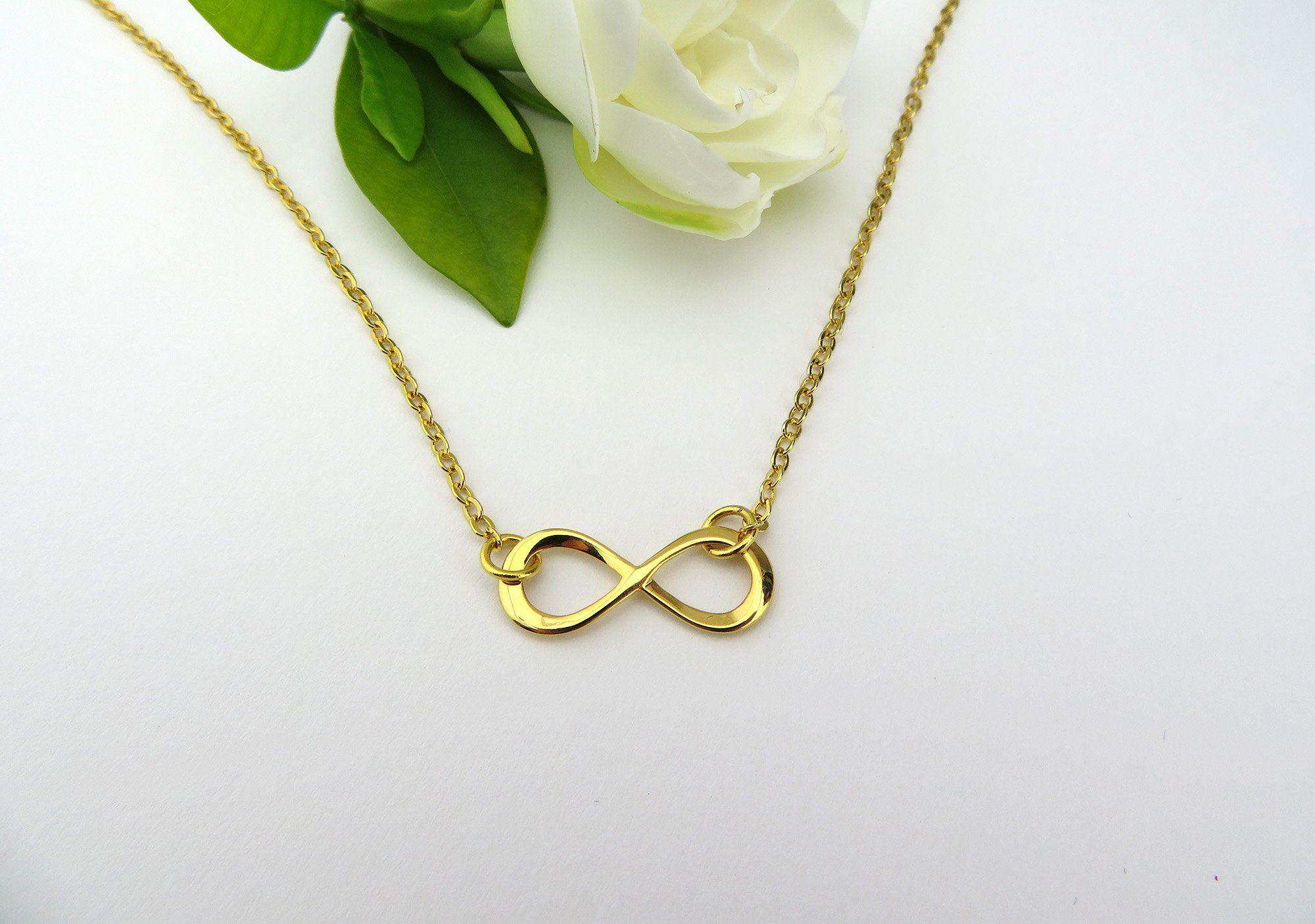 Infinity Necklace Infinity Jewelry Bridesmaid Gift Infinity Charm