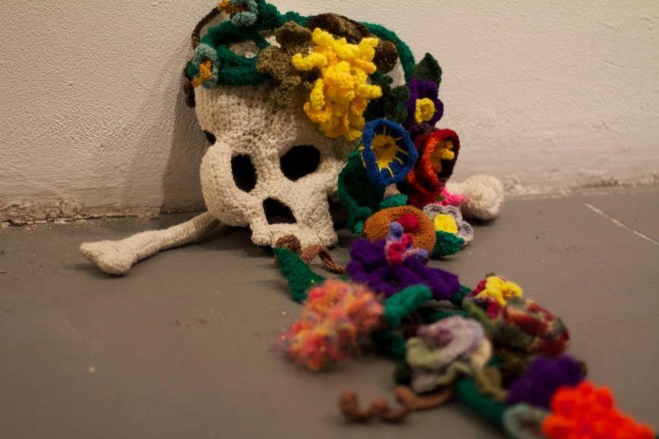 Rebirth, 2013 Crocheted sculpture.