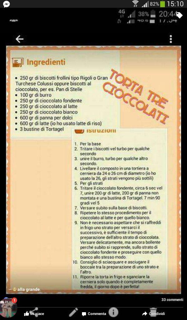 Torta ai 3 cioccolato