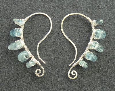 Luxe Bijoux 34 Hammered curved earrings with by CalicoJunoJewelry, $74.00