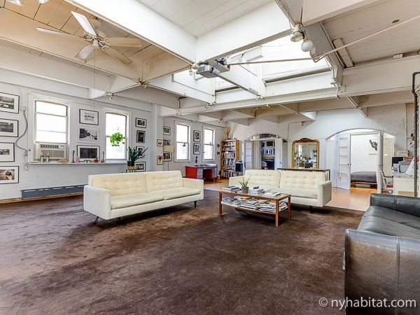 This Furnished Loft Apartment In Tribeca Sets The Bar For What It Means To Be Urbane Http Www Nyhabitat New York Apartment New York Apartments Apartment