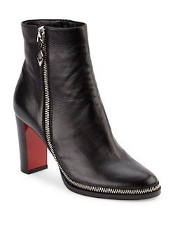 9a0e6a6d14ab Christian Louboutin - Telezip 85 Nappa Leather Booties
