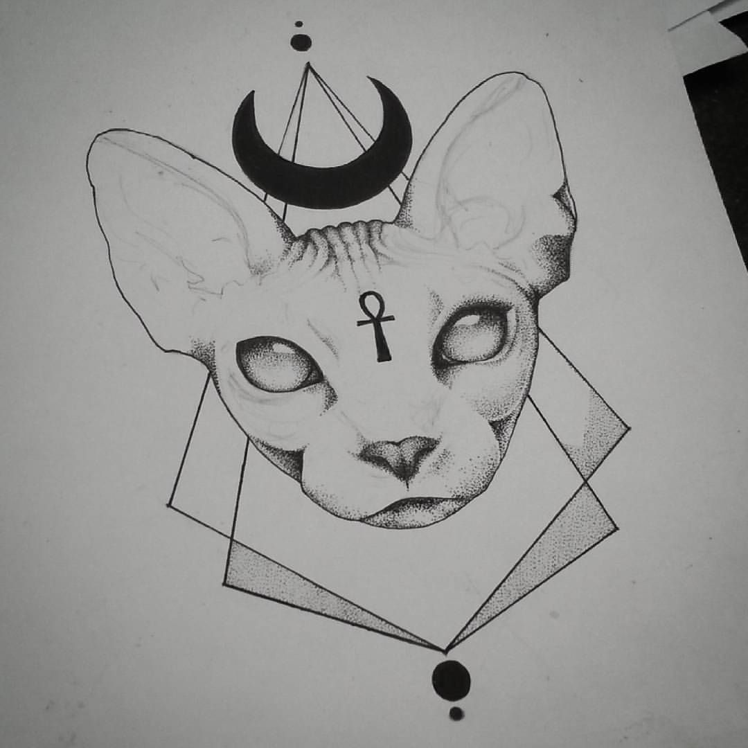 Sigillum Diaboli In Progress Still Quite A But To Do On This Cat Tattoo Sphynx Cat Tattoo Egyptian Tattoo