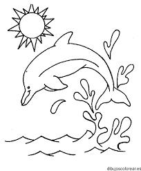 Dibujos De Delfines Buscar Con Google Delfines Para Colorear Mar Para Colorear Dibujos De Colores