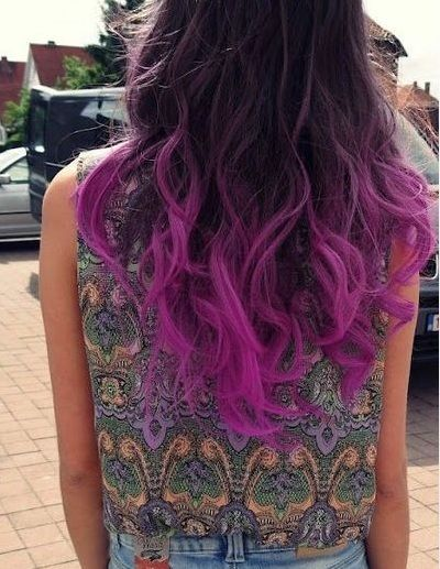 blue ombre hair | ombre hair purple blue | We Heart It