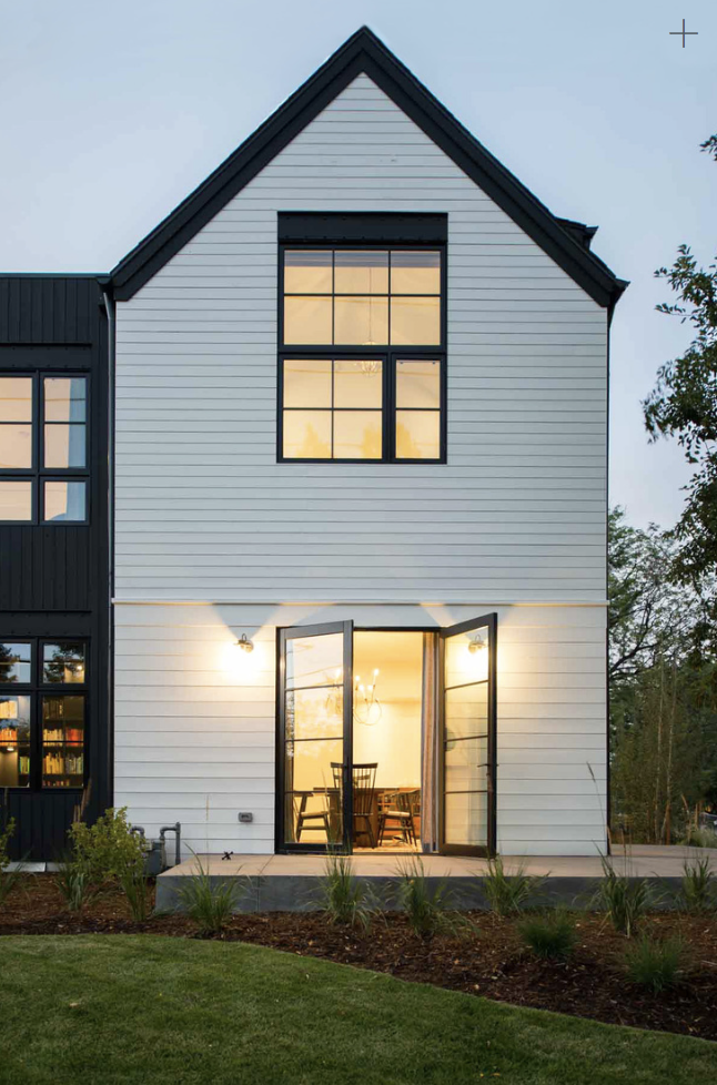 Modern Black And White Exterior Siding And Fascia Modern Farmhouse Exterior Townhouse Exterior Colorado Homes
