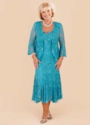 6bbcee7e002 New Elegant Turquoise Plus Size Mother Of The Bride Lace Dresses 2018 Tea  Length Wedding Party Gowns With Long Sleeves Jacket Mothers Bride Dress  Mothers Of ...