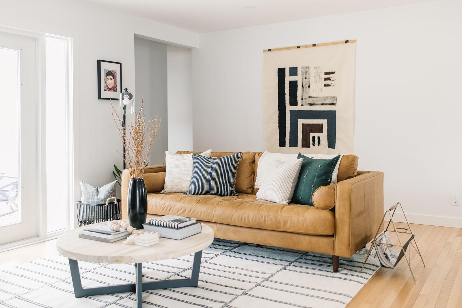 Scandinavian Modern Home Tracey Jazmin Interior Photographer In 2020 Interior Mid Century Modern Interior Design Cushions On Sofa