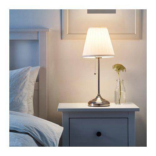 ÅRSTID Table lamp nickel plated, white IKEA | Ikea lamp