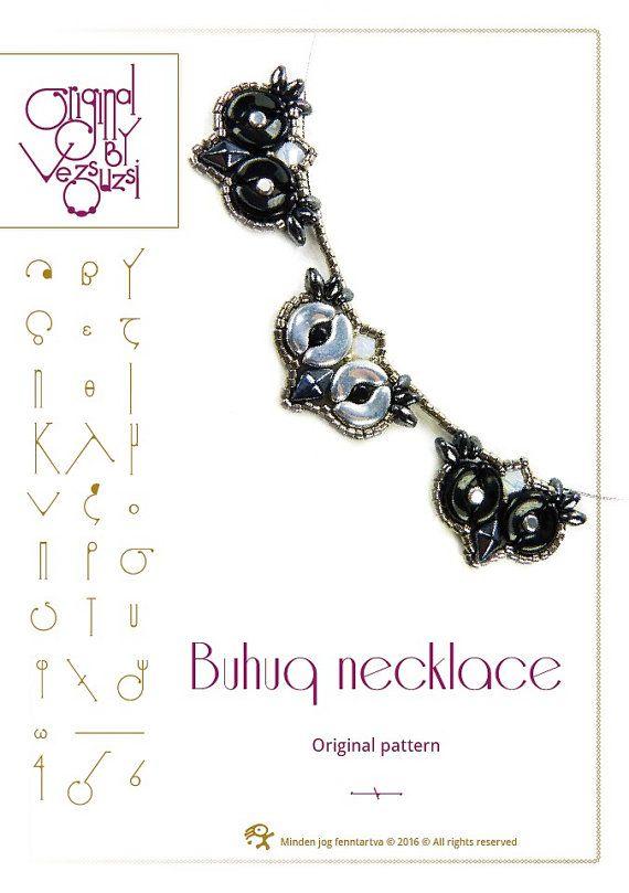 Tutorial di perline / collana Buhuq modello con di beadsbyvezsuzsi