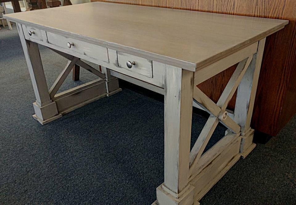 x end desk   farmhouse furniture   decor for farmhouse   pinterest