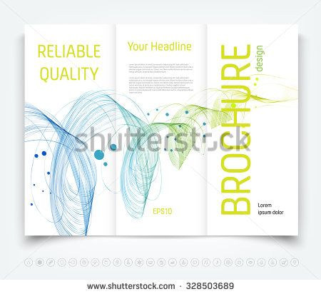 vector modern tri fold brochure design template with colorful