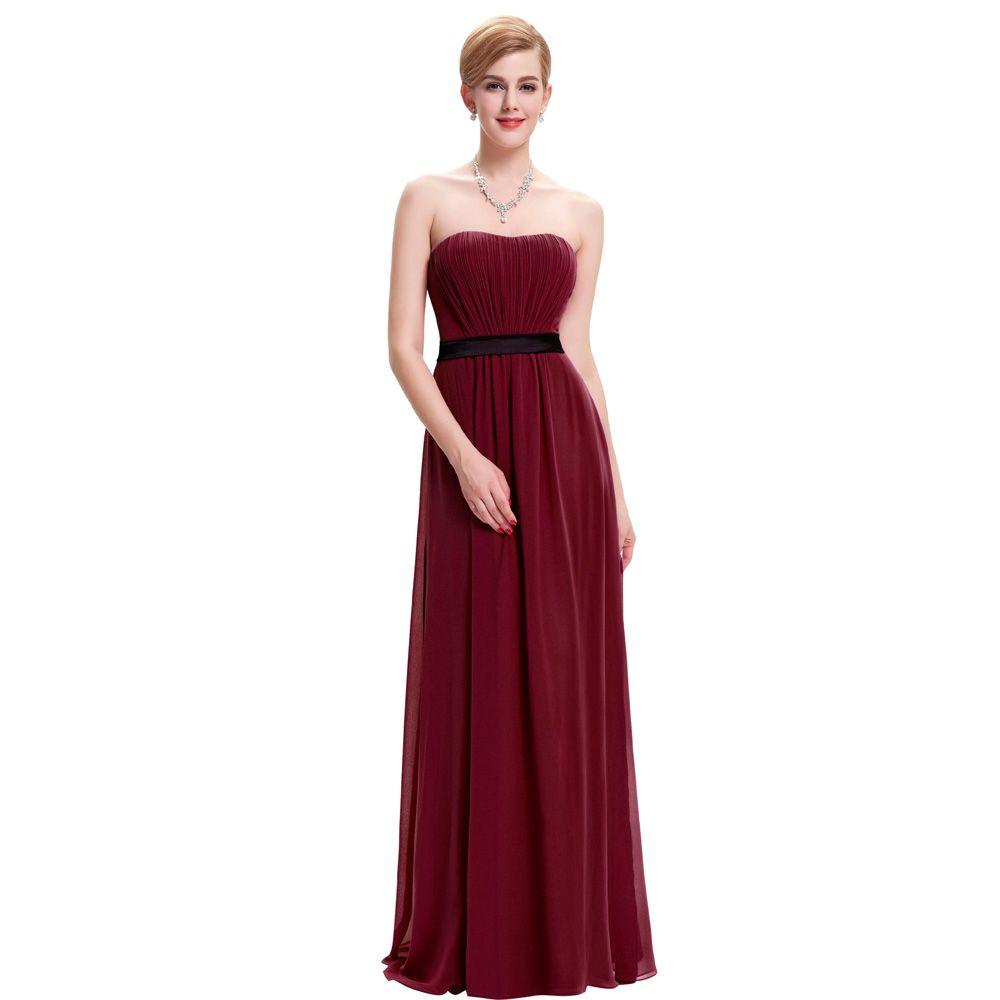 부르고뉴 들러리 드레스 긴 웨딩 파티 드레스 Brautjungfernkleid 로얄 블루 그린 화이트 쉬폰 들러리 드레스 50