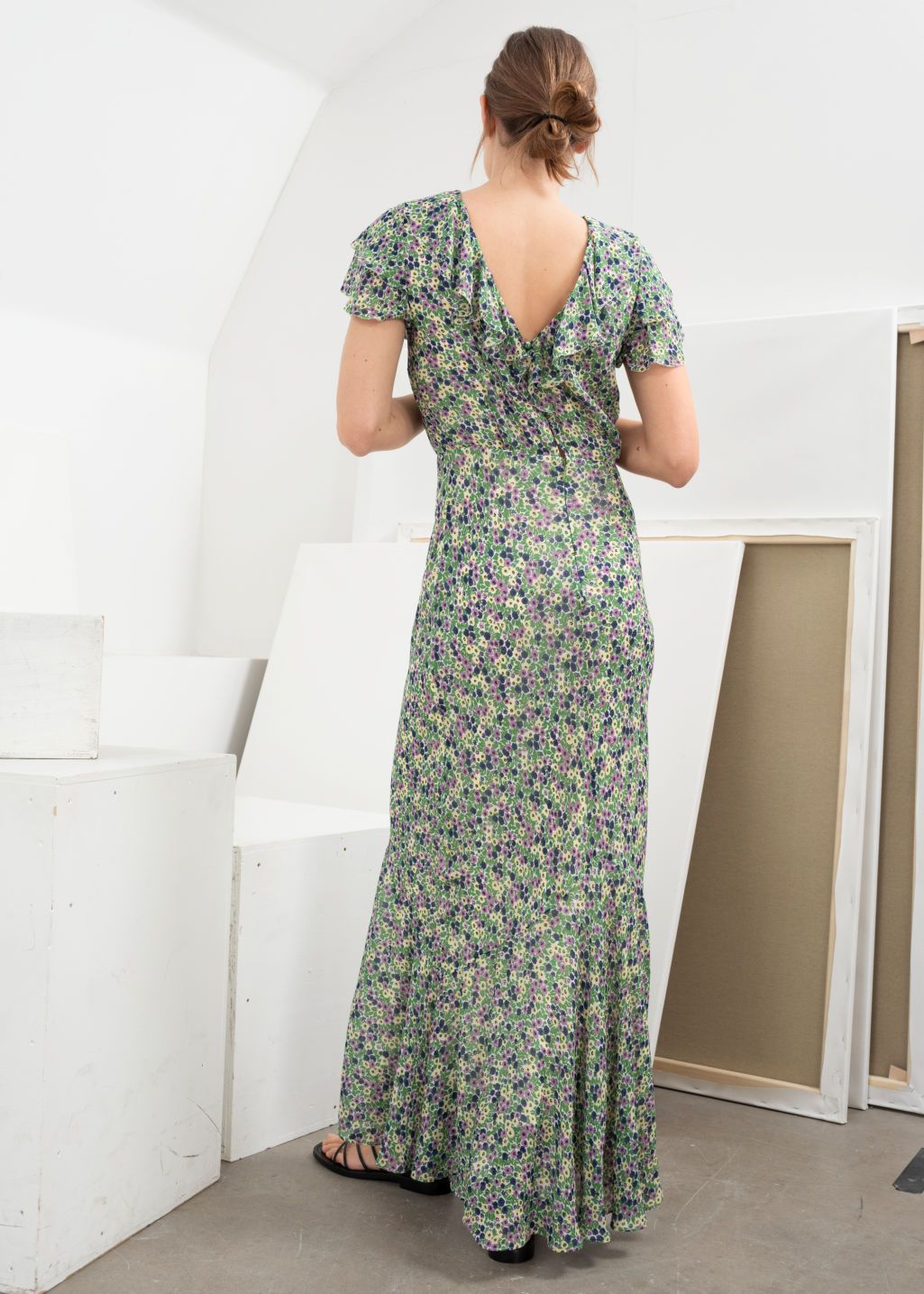 2fa41b093a972 Ruffled Floral Maxi Dress - Floral - Maxi dresses - & Other Stories