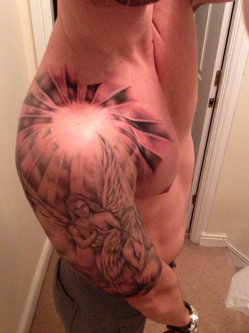 Angels And Rays Sun Rays Tattoo Shoulder Tattoo Sun Tattoos
