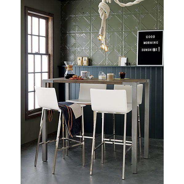Stilt 42 Tall Wood Dining Table Cb2 High Dining Table Tall Dining Table Top Kitchen Table
