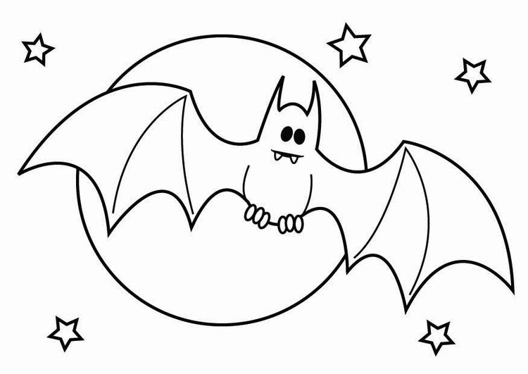 halloween ausmalbilder fledermaus 03 | Coloring Pages * Halloween ...