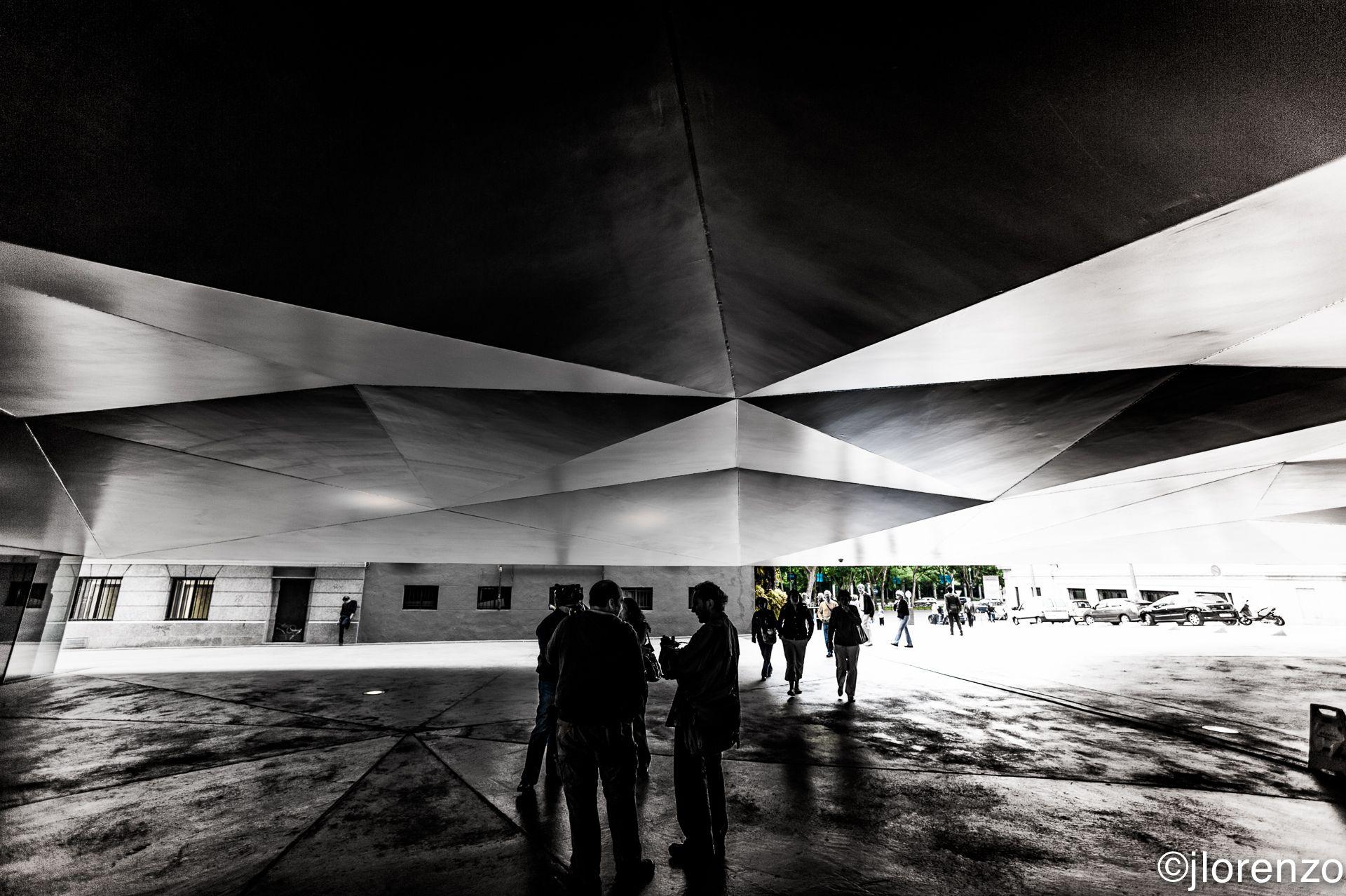 Bajo el Caixa Forum. Madrid