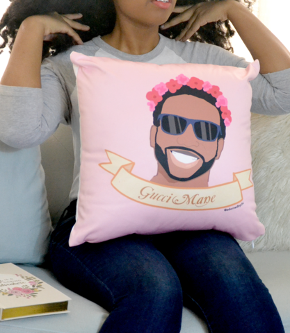 """""""Kawaii Gucci Mane"""" Flower Crown Pillow - Adorned By Chi - 4"""