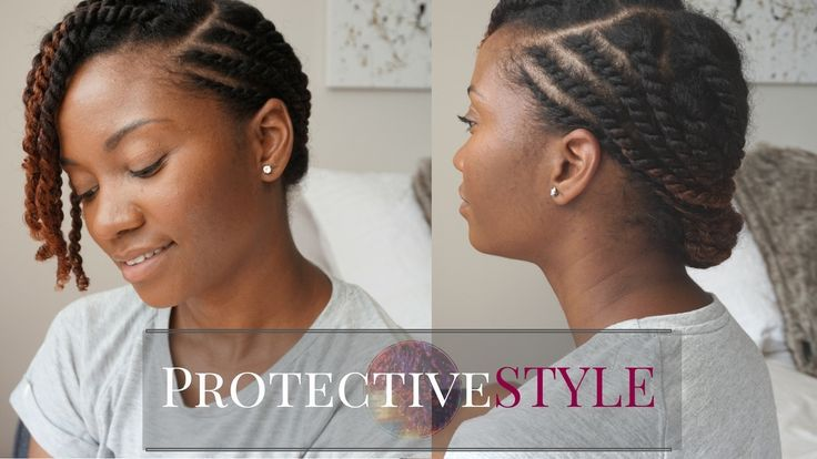 Yet Another Cute Flat Twist Protective Style For Natural Hair Black Women S Natural Hair Style Natural Hair Twists Natural Hair Twist Out Natural Hair Styles