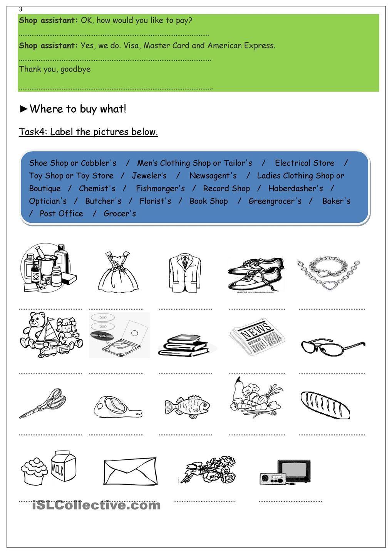 Workbooks shopping worksheets esl : Doing the shopping | Shopping | Pinterest | Worksheets, Printable ...