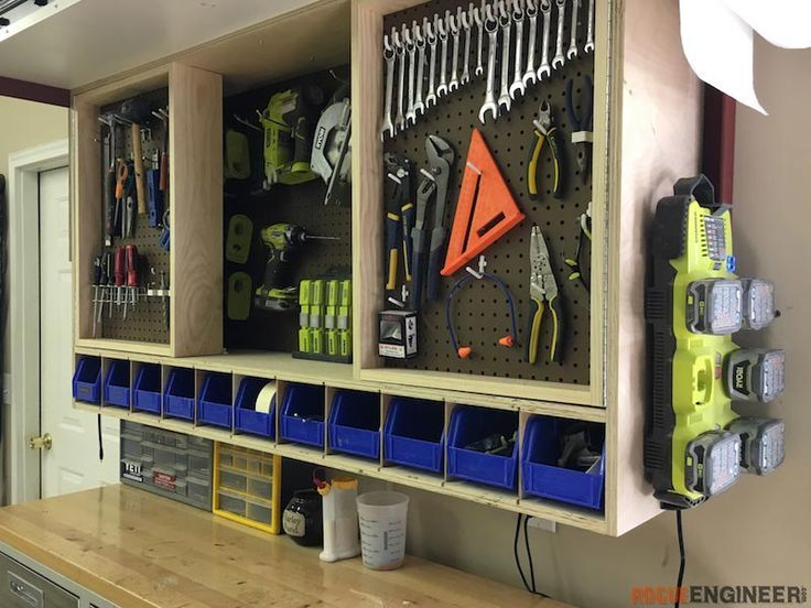 Tool Storage Wall Cabinet Rogue Engineer Tool Storage Diy Tool Storage Cabinets Diy Projects Plans