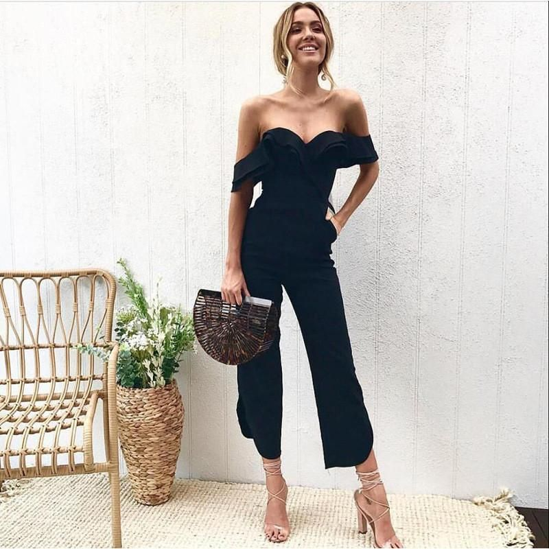 9c338b9f8b1 Backless Tiered Ruffle Ankle Jumpsuit in 2019