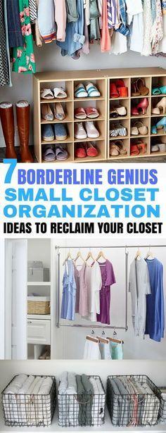 7 Borderline Genius Small Closet Organization Hacks images
