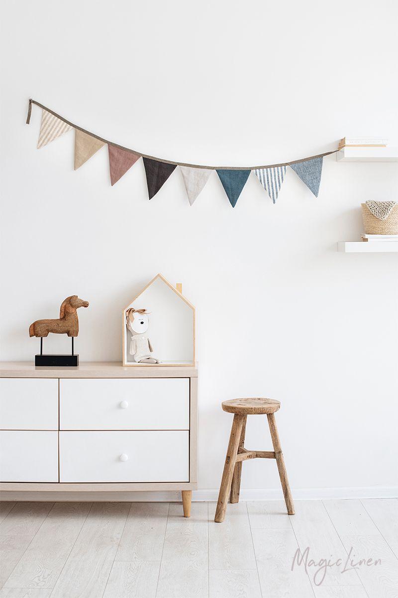 Linen Bunting Nursery Decor Items Minimalist Nursery Nursery