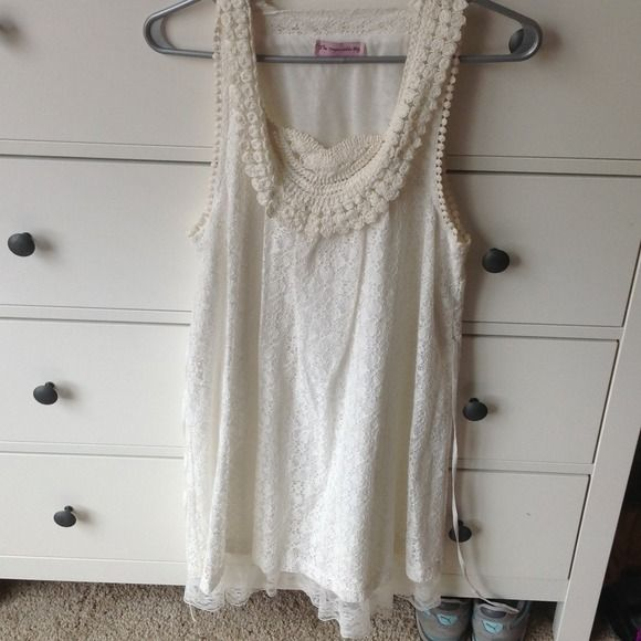 White summer lace dress Very pretty white summer lace dress. Swim Coverups