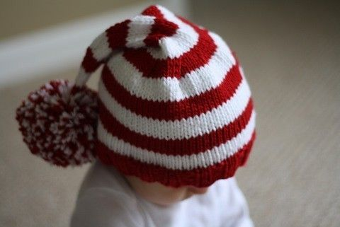 0eebfe6774d PDF Pattern for Hand Knit Christmas Stocking Hat Baby to Child (20)