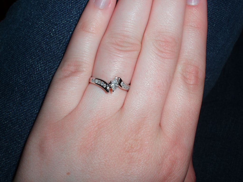 My engagement ring! Today I found some gorgeous wedding rings and ...